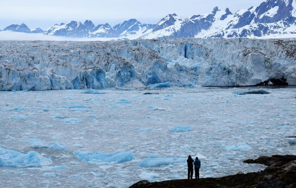 View of Knud Rasmussen glacier